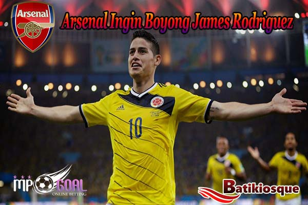 Arsenal Serius Ingin James Rodriguez